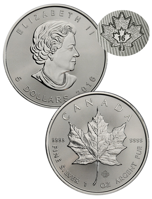 2016 1 oz Canadian Silver Maple Leaf