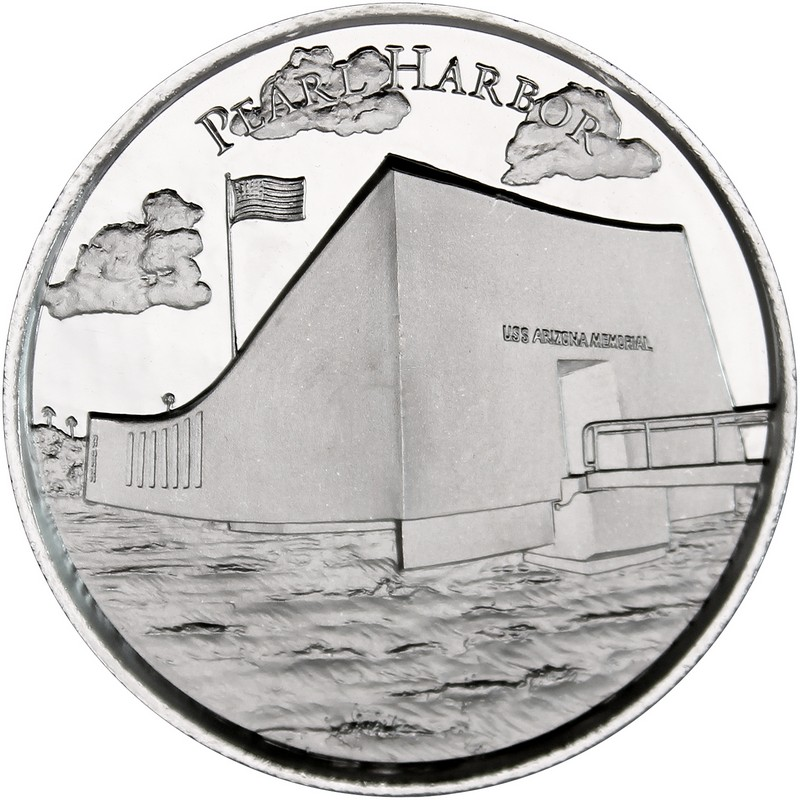 2 oz Silver Pearl Harbor Ultra High Relief Round | Amer