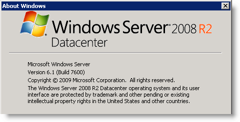 Windows - Windows Server 2008 R2 Datacenter SP1 64-bit