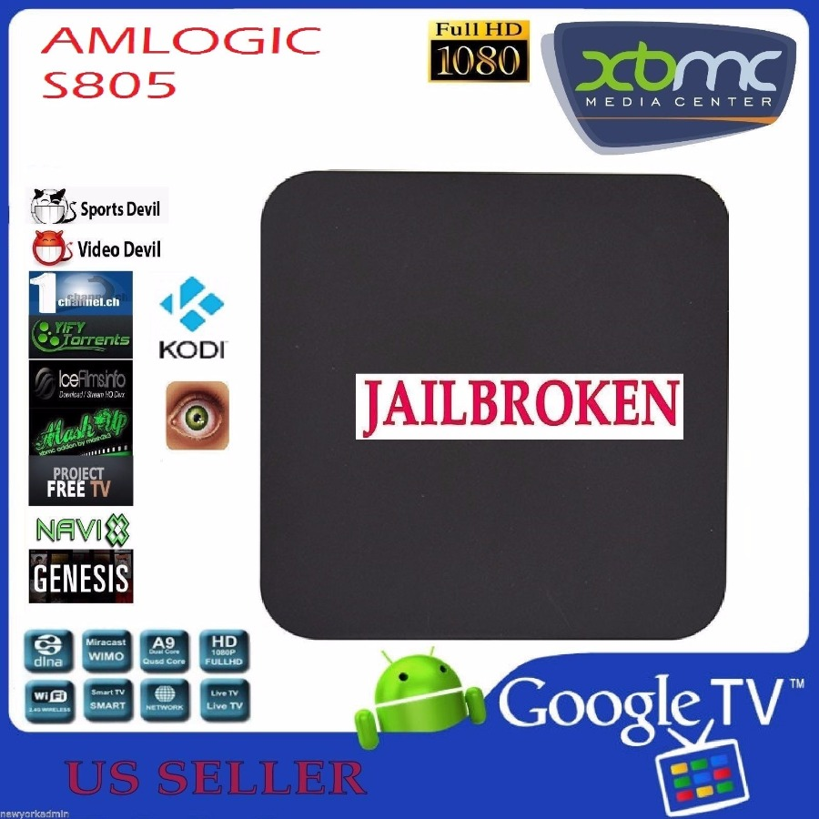 JAILBROKEN MX XBMC KODI ANDROID 4.4 QUAD CORE S805 LOAD