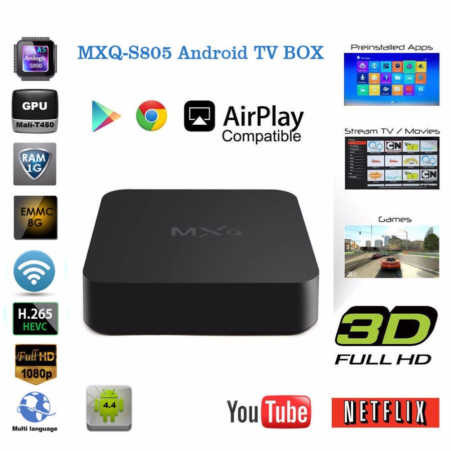 Amlogic S805 TV Box Android4.4 Quad Core IPTV Kodi