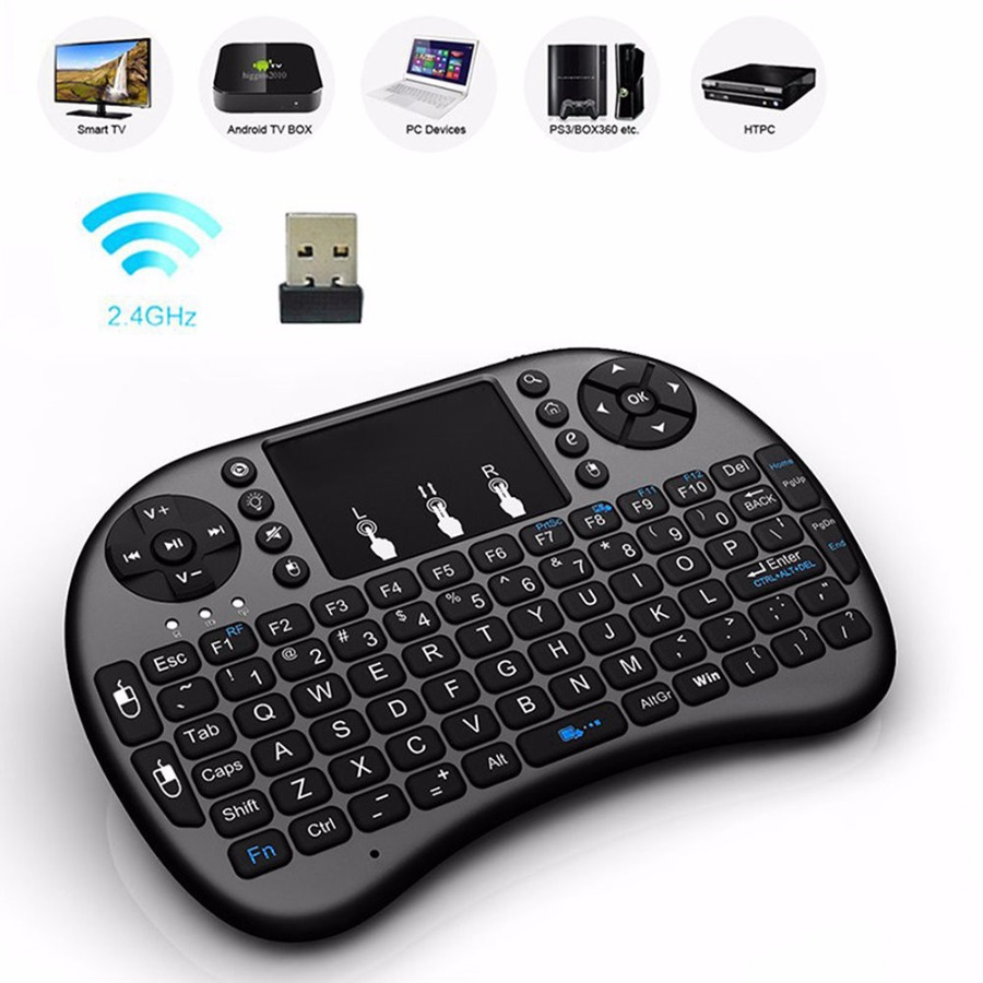 2.4G Wireless Air Keyboard Mouse Qwerty Remote Touchpad