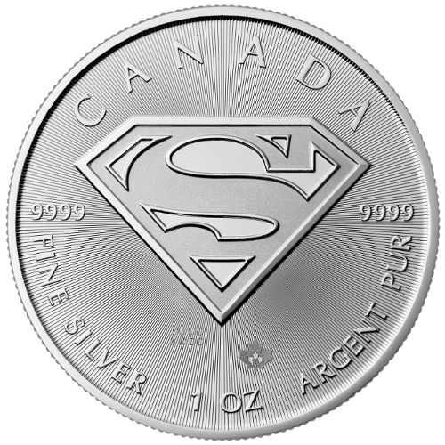 2016 1 oz Silver Superman S-Shield Coin | RCM