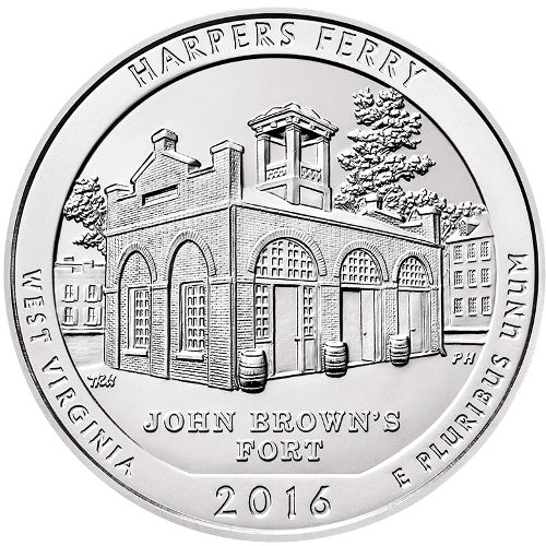2016 Harpers Ferry National Historical Park 5 oz Silver