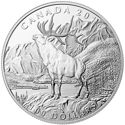 $100 Fine Silver Coin – The Elk (2016)