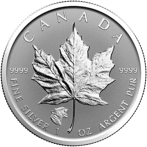 2017 1 oz Cougar Privy Canadian Silver Maple Leaf Rever