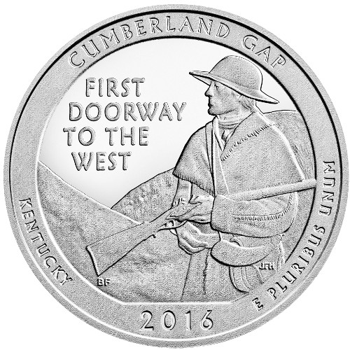 2016 Cumberland Gap National Historic Park 5 oz Silver