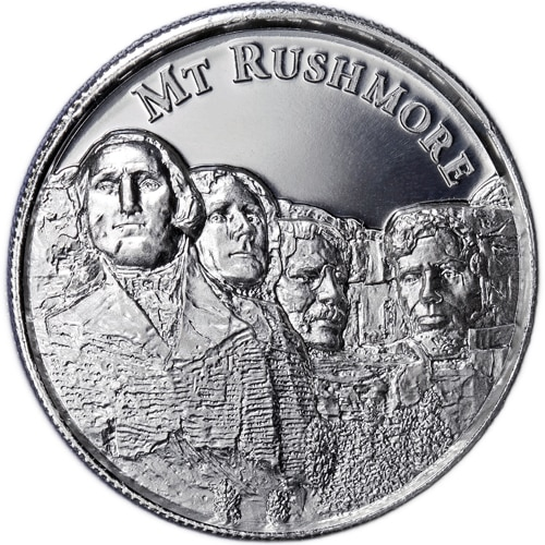 2 oz Silver Mount Rushmore Ultra High Relief Round | Am