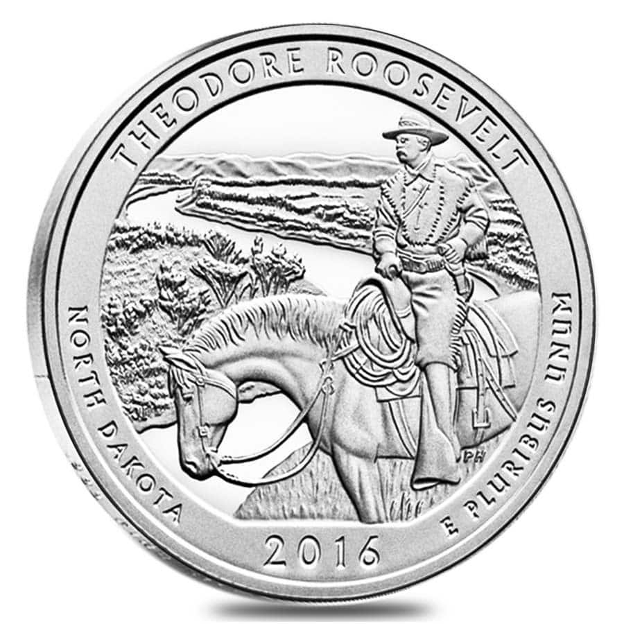 2016 Theodore Roosevelt National Park 5 oz Silver ATB