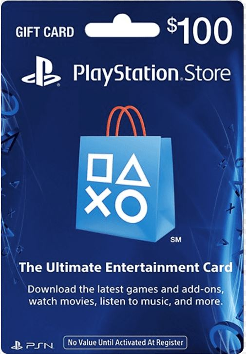 PS Gift Coupons 100$