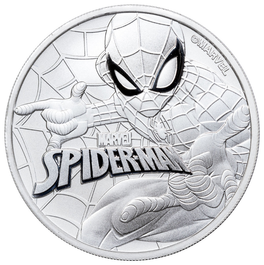 2017 1 oz Tuvalu Spiderman Marvel Series Silver Coin
