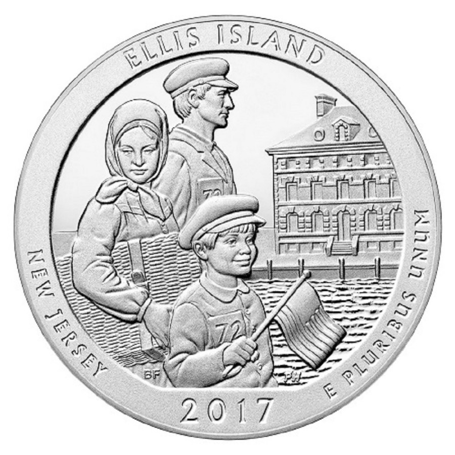 2017 Ellis Island National Monument 5 oz Silver ATB