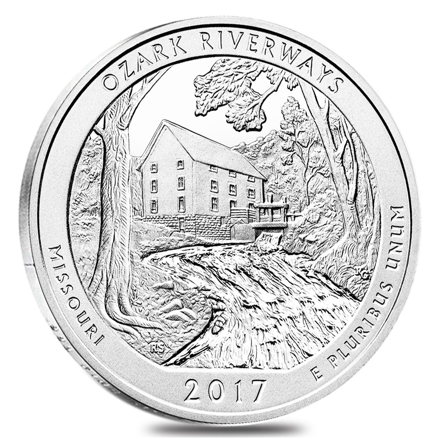 2017 Ozark National Scenic Riverways 5 oz Silver ATB