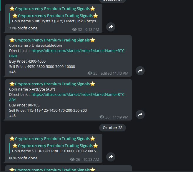 Premium Cryptocurrency Trading Signals For Lifetime