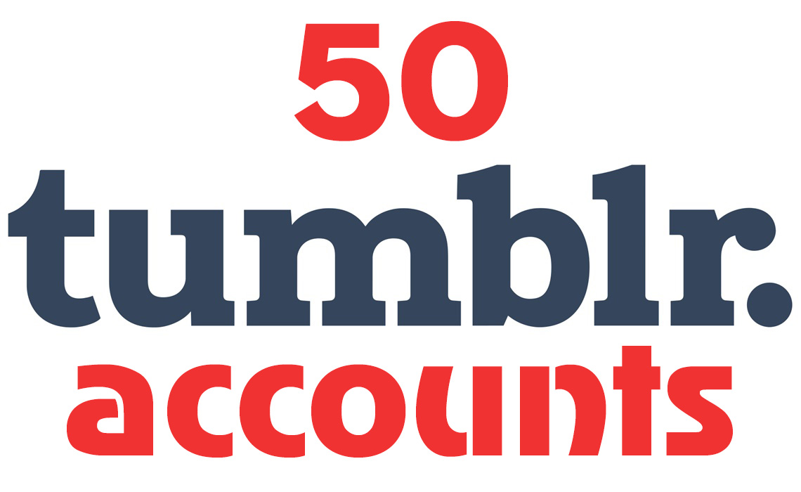 50 Tumblr Russian or USA accounts