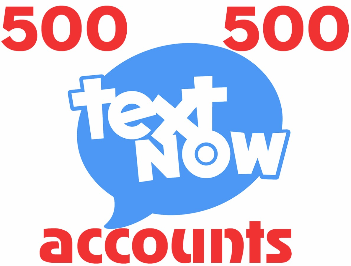 500 textnow.com accounts – USA virtual number