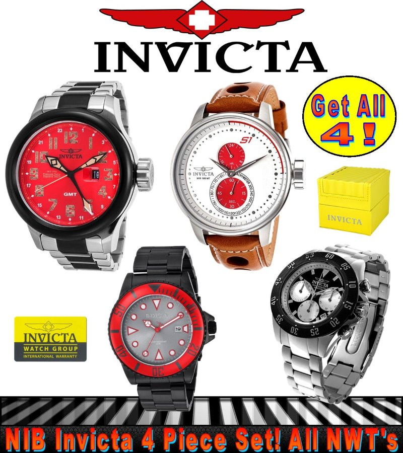 INVICTA BUNDLE! Four New Watches for One Price!