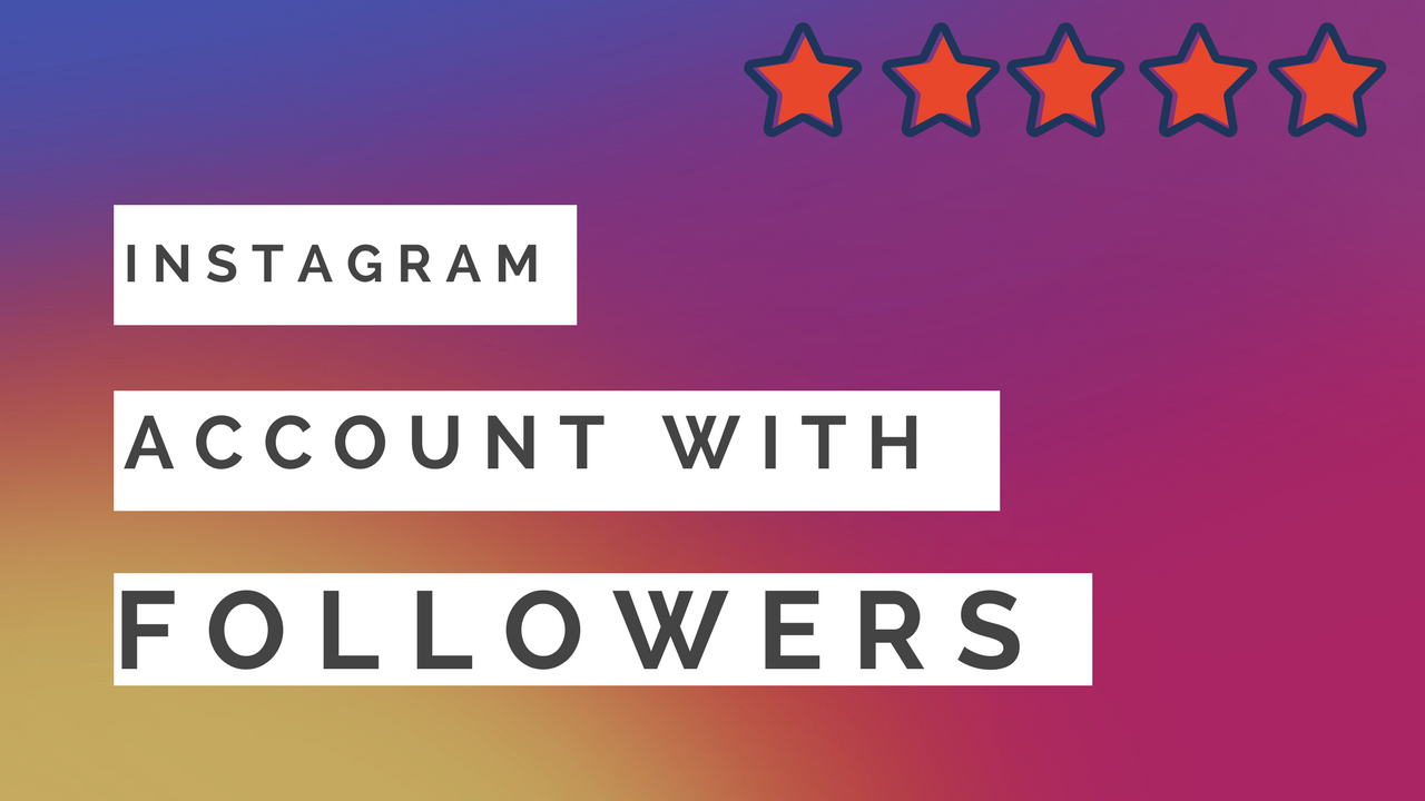 Russian Instagram Account With 5000-6999 Followers