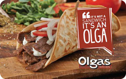 Olga's Kitchen $50 Gift Card (2x$25)