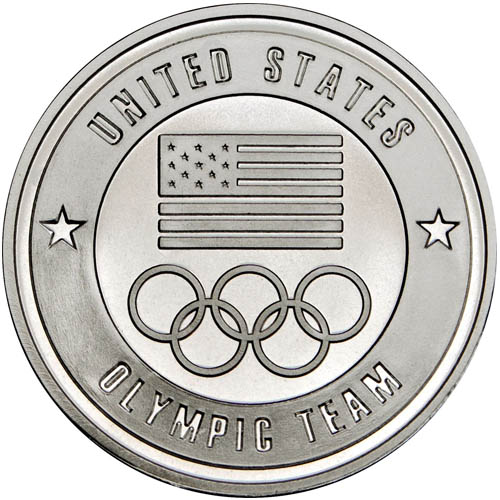 1 oz U.S. Olympic Team Silver Round