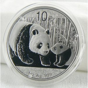 2011 Chinese Panda 1oz .999 Fine Silver Coin