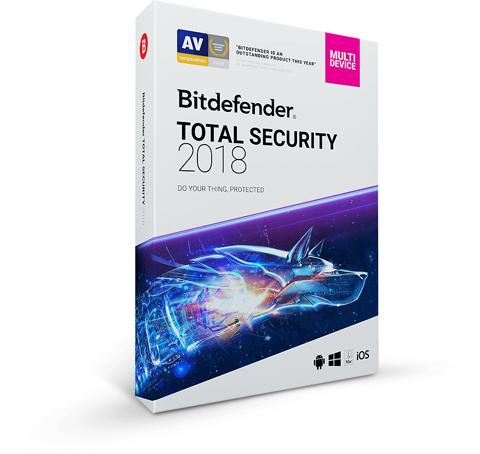 BitDefender Total Security 2018 - 5 Devices, 3 Months