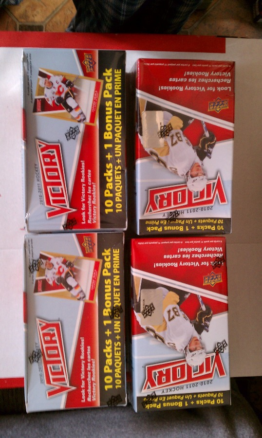 2010-11 Upper Deck Victory 4 Box Blaster Lot