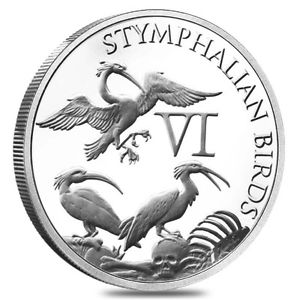 Stymphalian Birds 1 oz Silver The 12 Labors of Hercules