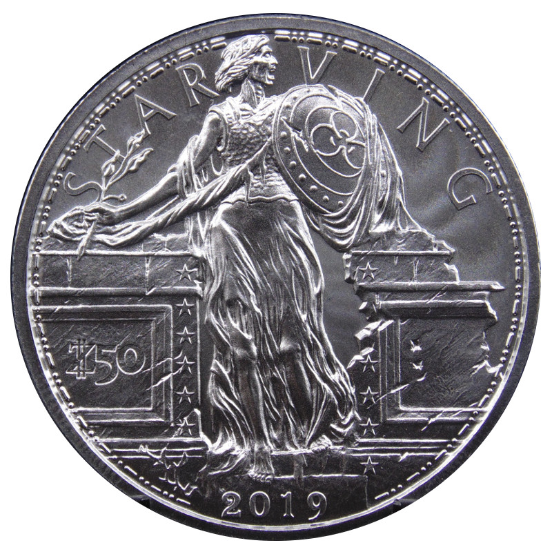 Zombucks® Starving Liberty 1 oz Silver Round