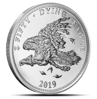 Zombucks® Dying Eagle 1 oz Silver Round