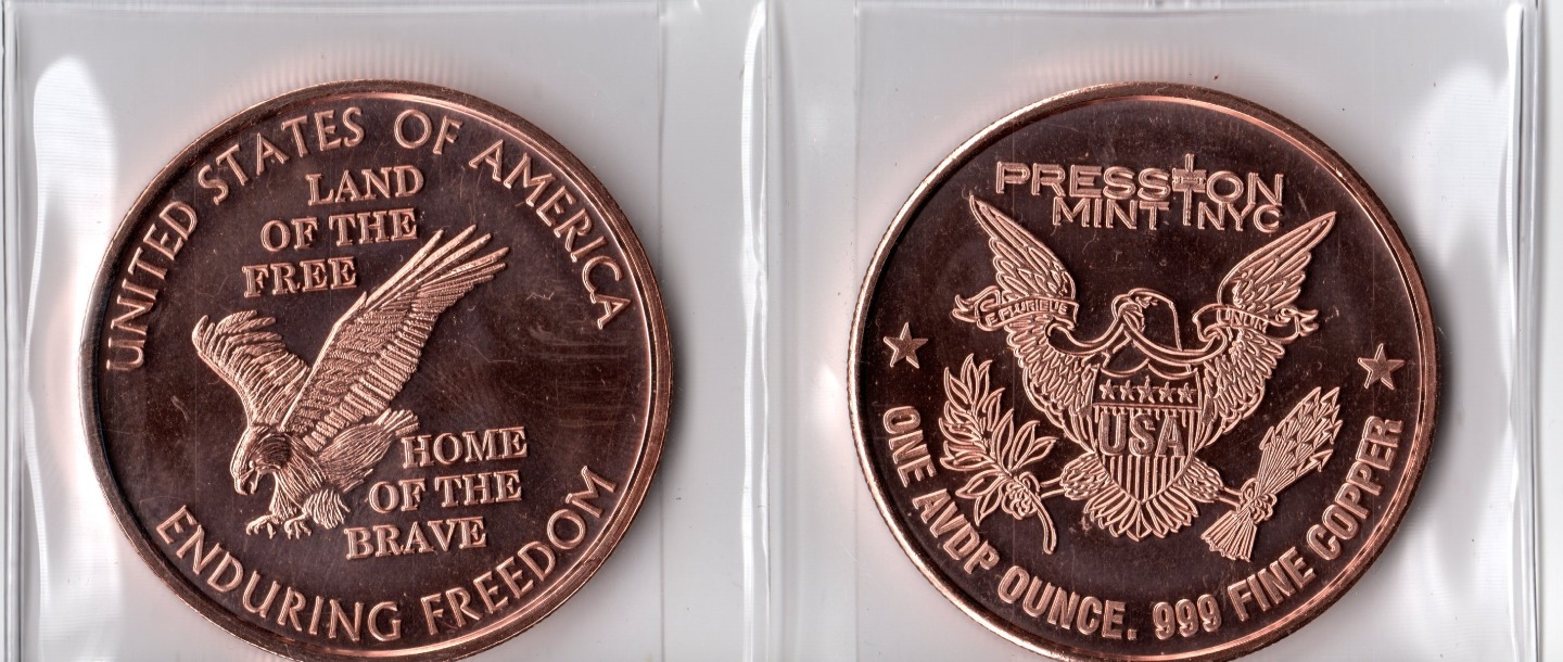 1 Oz Enduring Freedom Copper Round
