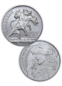 Cerberus 1 oz Silver Round | The 12 Labors of Hercules