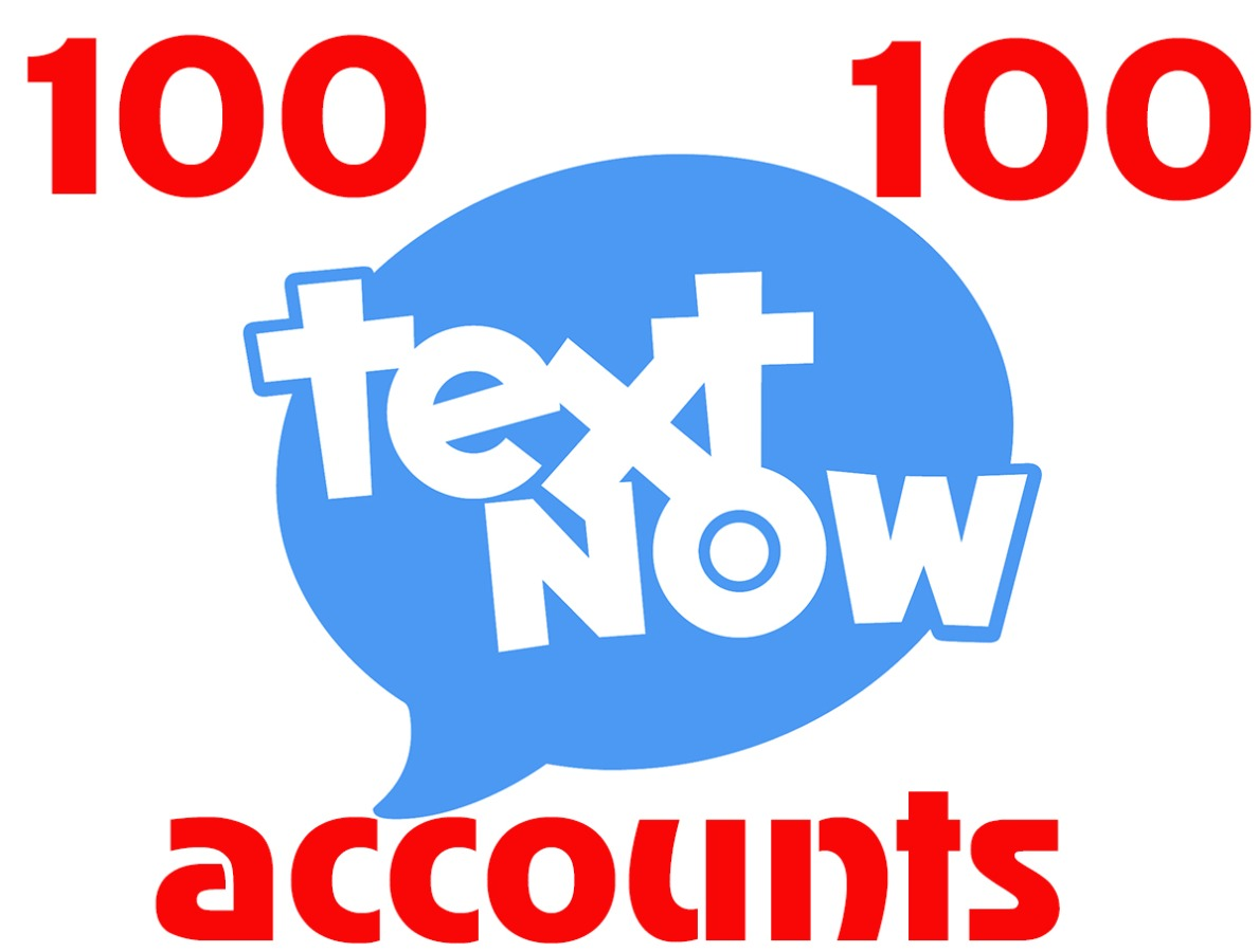 100 textnow.com accounts – USA virtual number