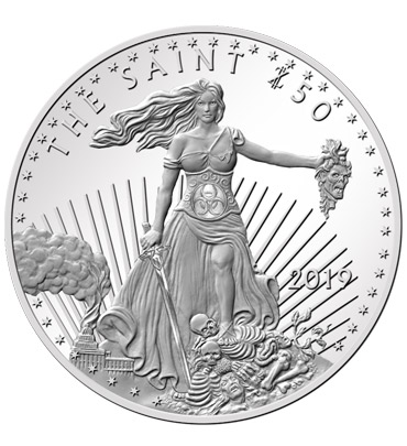 Zombucks® Saint 1 oz Silver Round