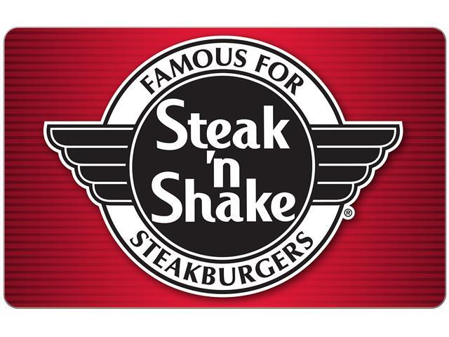Steak N Shake $50 Gift Card (One card) instant egift