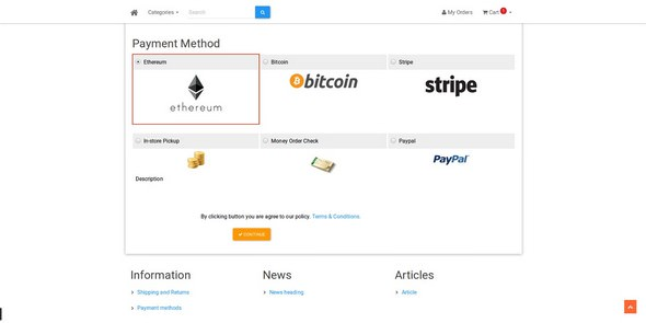 Bitcoin-Ethereum-Shopping Cart