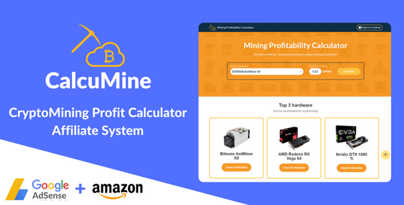 CalcuMine  - Cryptocurrency Mining Calculator &a...