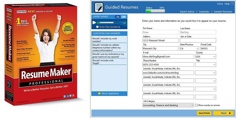 ResumeMaker Pro  v20 & WinWay Resume  v14 Activated
