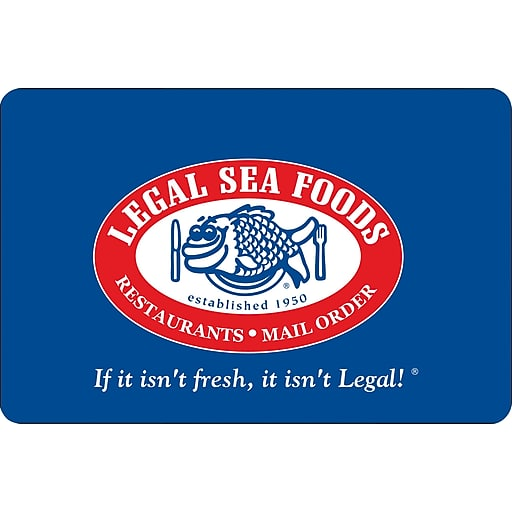 $100 Legal seafood gift cards