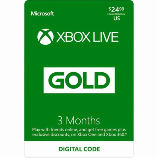 Xbox Live Gold 3 Month Instant Delivery