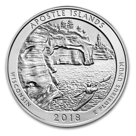 2018 5 oz Silver ATB Apostle Islands National Lakeshore