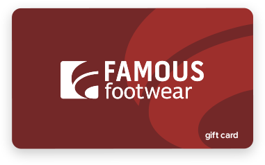$100 Famous Footwear Gift Card