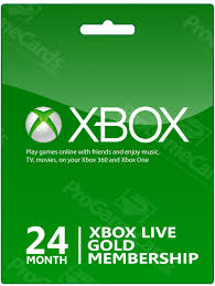 Xbox live gold 24 months code