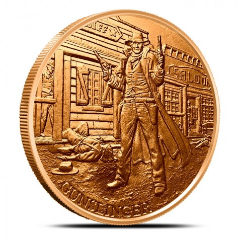 1 oz Copper Round | Prospector Series - Gunslinger