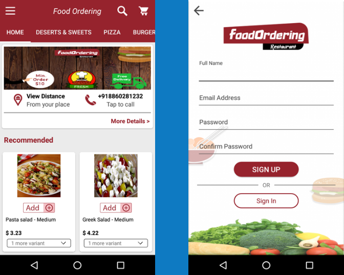 Food Ordering App - Android--Hot Sales