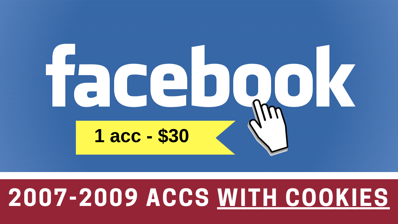 1 Facebook.com Aged 2007-2009 Accounts With Cookies
