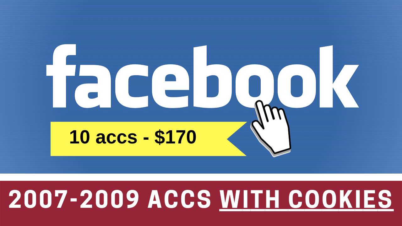 10 Facebook.com Aged 2007-2009 Accounts With Cookies