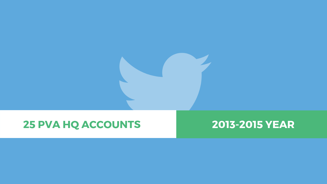 25 Twitter PVA HQ Aged Account (2013-2015) – 63 $