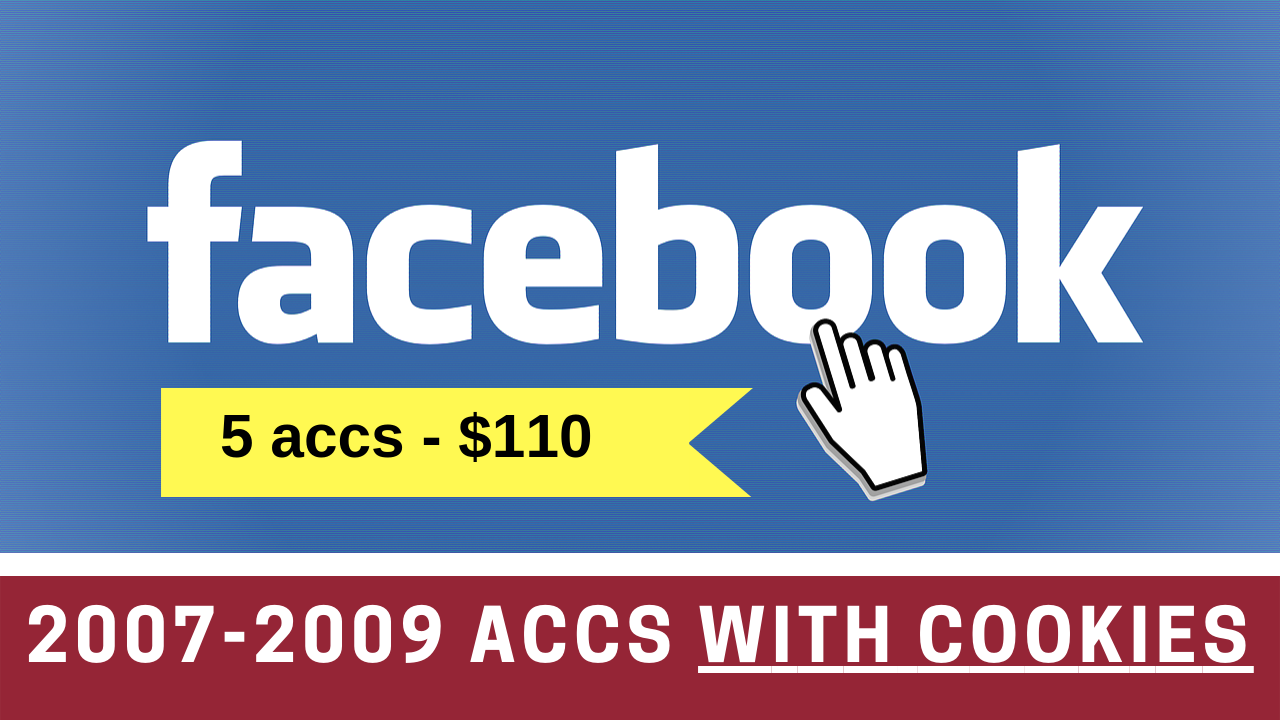 5 Facebook.com Aged 2007-2009 Accounts With Cookies
