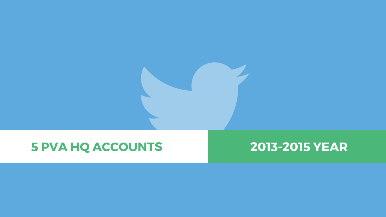 5 Twitter PVA HQ Aged Account (2013-2015) – 23 $